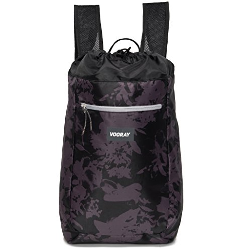 vooray-stride-16l-cinch-drawstring-backpack-ghost-floral-black