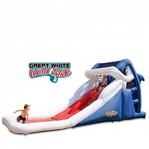 Blast Zone Great White Wild Inflatable Water Slide ()