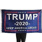 NFS PLUS Trump Flag 2020 Donald Trump – Keep America Great 3×5 Feet Polyester Decorative American USA Flag Banner