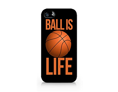Ball Is Life - Basketball Is Life - iPhone 5/5S Black Case (C) Andre Gift Shop (Jordan Case 4s Michael Iphone)