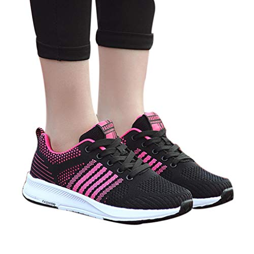 vermers Clearance Sale Women's Leisure Lightweight Gym Sneakers Running Sports Shoes Casual Breathable Shoes(US:6.5, Hot Pink) ()