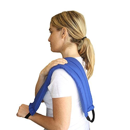 My Heating Pad- Multi Purpose Wrap – Natural Heat Therapy - Neck Pain Relief (Blue)