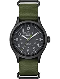 Timex Men TW4B04700GP Casual Grey Dial and Green Nylon Strap Expedition Watch