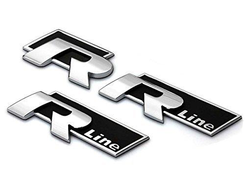 Deselen LP-BSP1 - VW Emblema - Calcomanías cromadas para etiqueta de insignia para Golf R Line MK6 MK7, Jetta, Tiguan,...