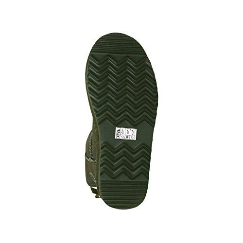 SKUTARI Wildleder Damen Frauen Winter Boots | Warm Gefüttert | Schlupf-Stiefel mit Stabiler Sohle | Schleife Pailletten Glitzer Meliert Schuhe Green(Grün)