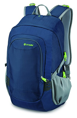 (Pacsafe Venturesafe GII 25 Liter Anti Theft Travel Backpack / Daypack (Navy Blue))