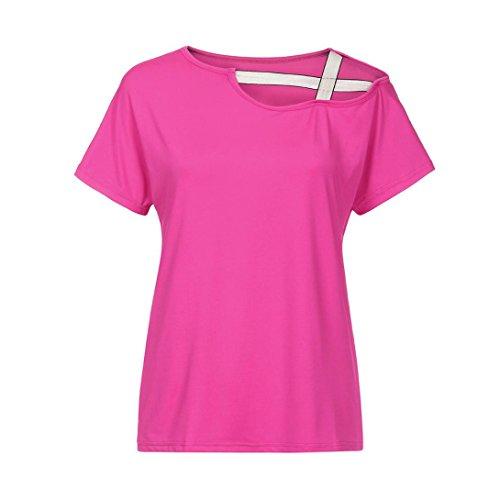 ... MCYs Frauen Beiläufige Einfarbig Sommer Lose Schulterfrei Shirt Kurzarm  Neu Frühling Sommer T Shirt Oberteil Tops ... 58fe4ea56c