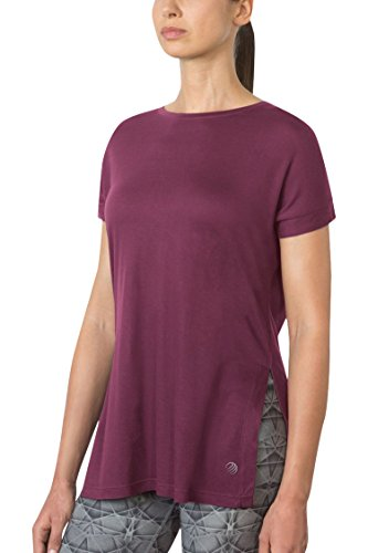 MPG Julianne Hough Women's Pixel Split-Side Tee XS Team Maroon