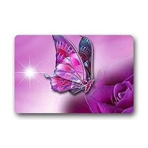 """Custom butterfly Doormat Outdoor Indoor 23.6""""x15.7"""" about 59.9cmx39.8cm"""