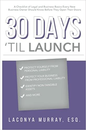 30 days til launch a checklist of legal and business basics every