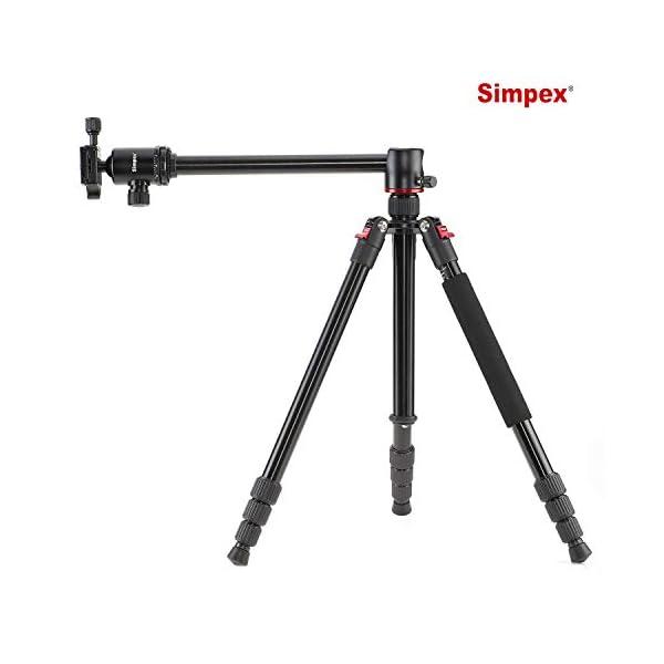 RetinaPix Simpex Professional Aluminium Tripod 540-TM Tripod Cum Monopod with Multipurpose Head for Low Level Shooting, Panning for All DSLR Camera