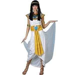 Cleopatra traje. Tamaño extra grande 50-52. Vestido, cinturón, collar, capa, casco y brazo puños.