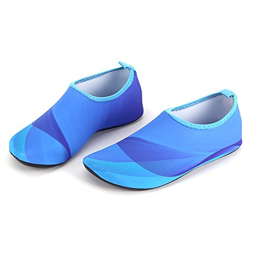 Shoes Yoga Swim Multi Barefoot Kids Functional Aqua Beach HYSENM Skin Unisex Socks Surf Water blue For qga4wn0