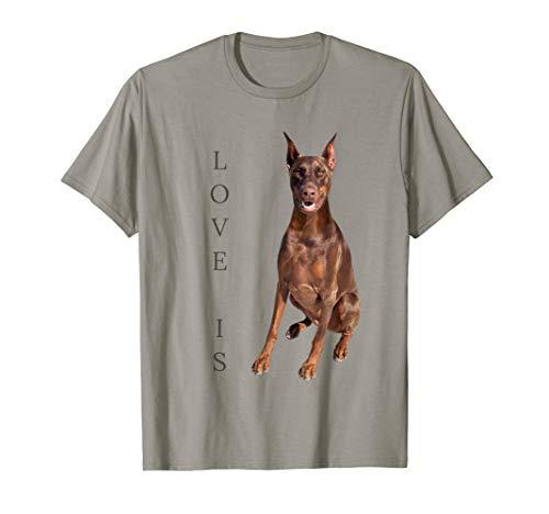 Doberman Shirt Women Men Kids Dog Mom Dad Love Pet Gift Tee T-Shirt