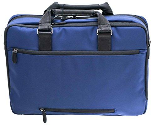 Davidts Berckely Echt Leder Aktentasche Laptoptasche Business Bag Umhängetasche Arbeitstasche Schwarz Blau 452 073 Bowatex