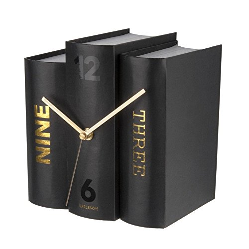 Karlsson Table Clock, Paper, Black, One Size