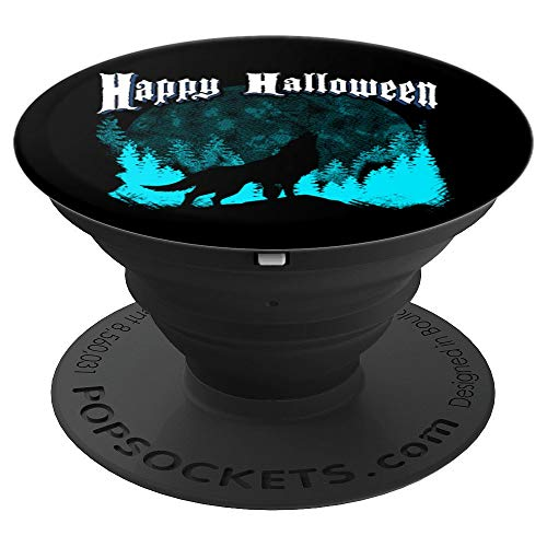 (Wolves Happy Halloween Gift Wolf Wilderness Adventure Camp - PopSockets Grip and Stand for Phones and)