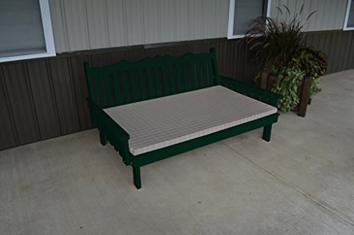 75 Inch Pine Indoor or Outdoor Royal English Daybed Amish Made- Dark Green Paint