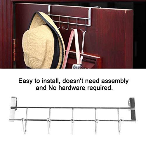 Agordo 5 Hooks Hanger Hat Clothes Hanging Rack Holder Coat Towel Over Door Bathroom (Cabin Swing Arm Towel)