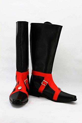 Jojos Bisarra Äventyr 5 Guido Mista Cosplay Shoes Svarta Stövlar Skräddarsydda