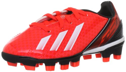 adidas F10 Traxion HG - Zapatos de fútbol de material sintético niño rojo - Rot (infrared / running white ftw / black 1)