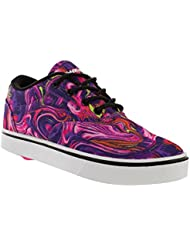Heelys HE100005W Womens Launch Skate Shoes, Black/Multi Swirl - 5