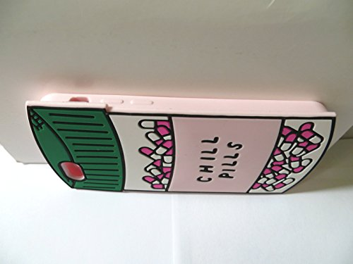 Apple iPhone SE Hülle, Chill-Pillen Flasche Gestalten Slikon Gel Weich Schutzhülle iPhone 5 5S 5C SE Hülle Case + Silikon Halter