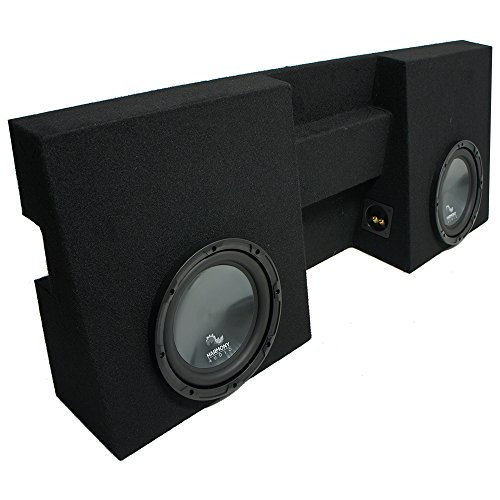 "Compatible with 2005-2015 Toyota Tacoma Double Cab Truck Harmony R104 Dual 10"" Sub Box Enclosure"