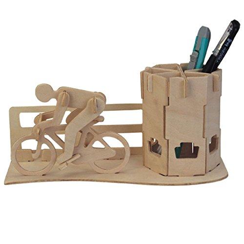 DIY 3D-Holz-Puzzle Rennrad Federbehälter Modell Kit Spielzeug Puzzle Geschenk