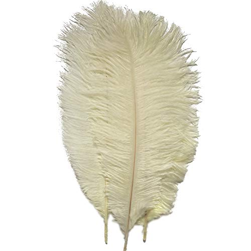 Sowder 20pcs Natural 10-12inch(25-30cm) Ostrich Feathers Plume Wedding Centerpieces Home Decoration(Ivory)