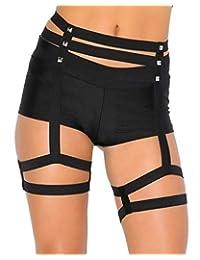 iHeartRaves Studded Garter Belt Rave Harness (Medium/Large)