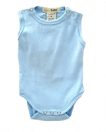L'ovedbaby Sleeveless Bodysuit, Blue Newborn (up to 7 lbs.)