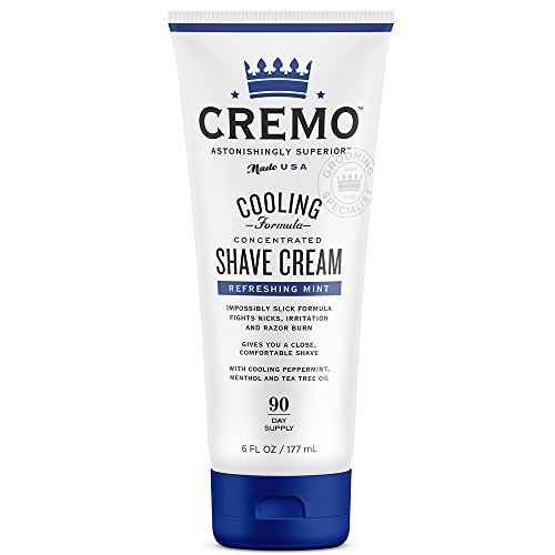 (Cremo Cooling Shave Cream, Astonishingly Superior Smooth Shaving Cream Fights Nicks, Cuts And Razor Burn, 6 Ounces)