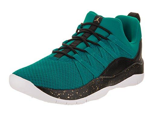 Jordan Nike Kids Deca Fly GG Rio Teal/Metallic Gold Black W Casual Shoe 6 Kids US by Nike