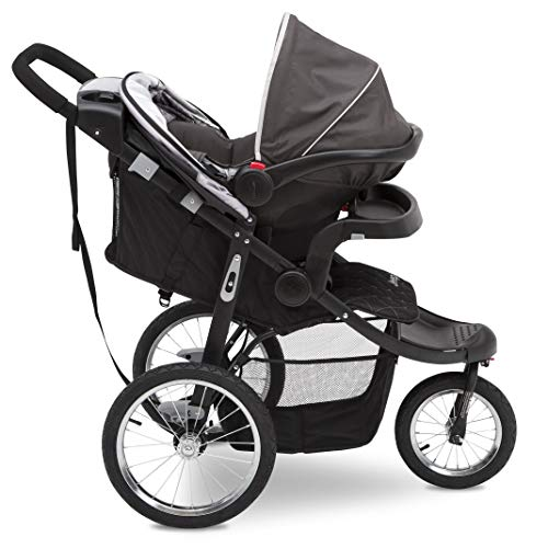 41Dtn0pdg8L - Jeep Deluxe Patriot Open Trails Jogger By Delta Children, Charcoal Tracks