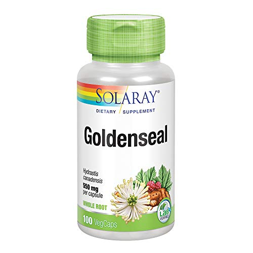 Solaray Goldenseal Root Capsules, 550 mg, 100 Count (Goldenseal Root 90 Capsules)