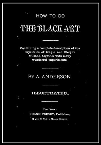 Pdf Entertainment How To Do The Black Art