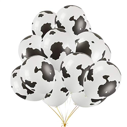 30Pcs 11'' Funny Cow Print Latex Balloons Perfect for Children's Birthday Party Supplies Decoration]()