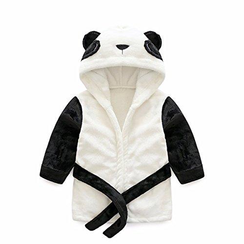 Kids Coral Fleece Bathrobe Robe Boys And Girls Hooded Robe Shawl Toddler Pajamas