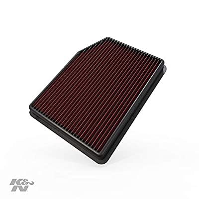 K&N Engine Air Filter: High Performance, Premium, Washable, Replacement Filter: 2020 Chevy/GMC Truck (Silverado 1500, Sierra 1500), 33-5083: Automotive
