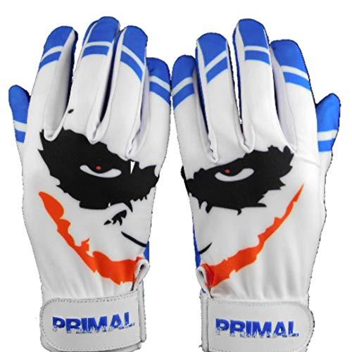 Cool Blue Smiley Baseball Batting Gloves (Large)