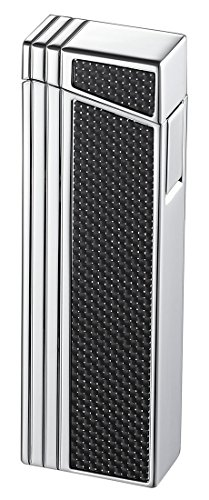(Visol Caseti Chrome Double Designed Compact Torch Flame Lighter)