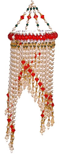 Charming Diwali Gifts U0026 Decoration   Pearl With Red Beads Jhumar For Diwali  Decoration U0026 Gift