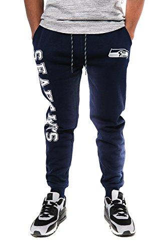 Team Colors Sweat - NFL Seattle Seahawks Men's Jogger Pants Active Basic Fleece Sweatpants, Small, Navy