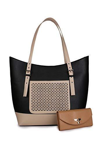 Women Marks Pu Leather Women s Shoulder Bag - Black   Cream (Ship) Combo  -Nsb1029  Amazon.in  Shoes   Handbags 2f042cf4149cd