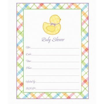 Pastel Baby Shower Invitation Value Pack 20ct by Party America by AMSCAN (Image #1)