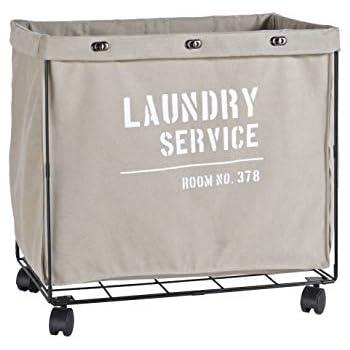 Amazon Com Rae Dunn Heavy Duty Laundry Hamper On Wheels
