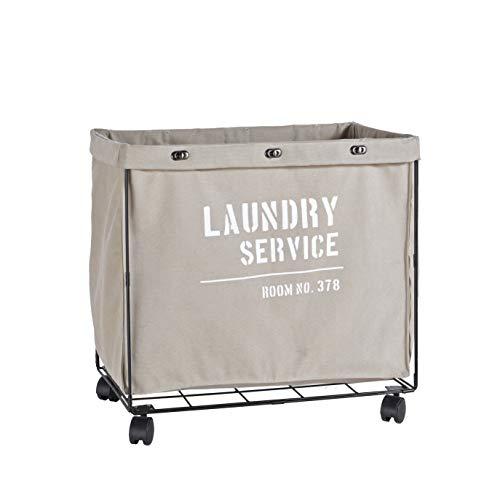Danya B. Army Canvas Laundry Hamper on Wheels (Laundry Online Hampers)