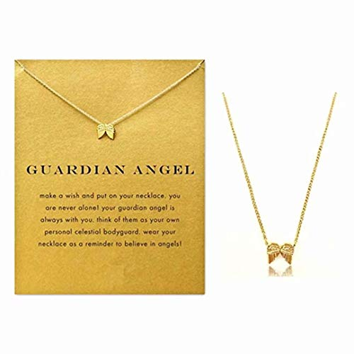 LOSOUL Clavicle Necklace Anchor Compass Necklace Friendship Anchor Elephant Pendant Chain Necklace with Meaning Card ()