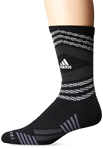 (adidas Speed Mesh Basketball/Football Team Crew Socks (1-Pack), Black/White/Night Grey/Onix,)